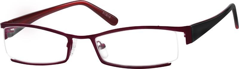 WomenHalf RimMixed MaterialsEyeglasses #813618