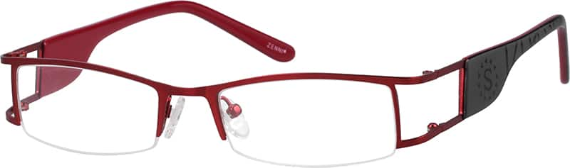 Women Half Rim Mixed Materials Eyeglasses #813718