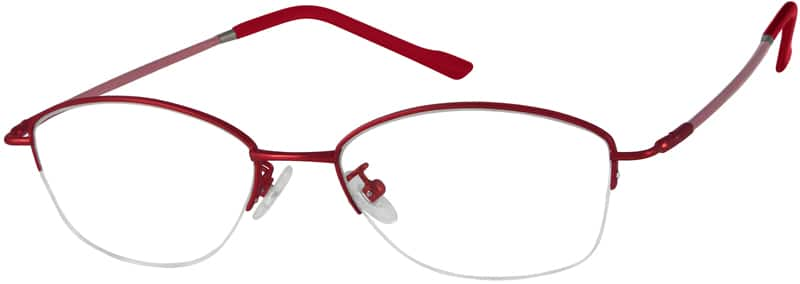 WomenHalf RimMemory TitaniumEyeglasses #817819
