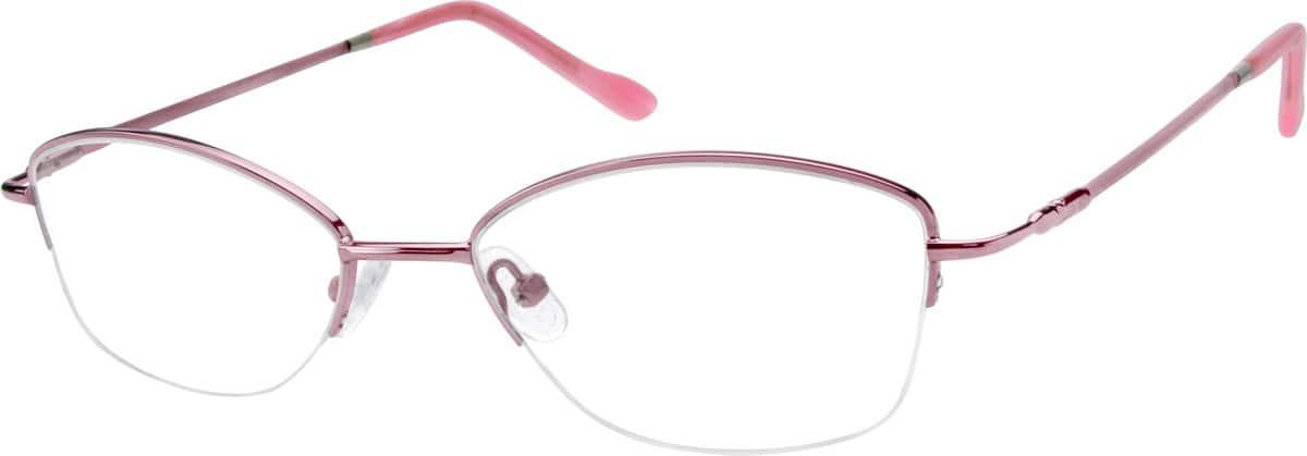 WomenHalf RimMemory TitaniumEyeglasses #817817