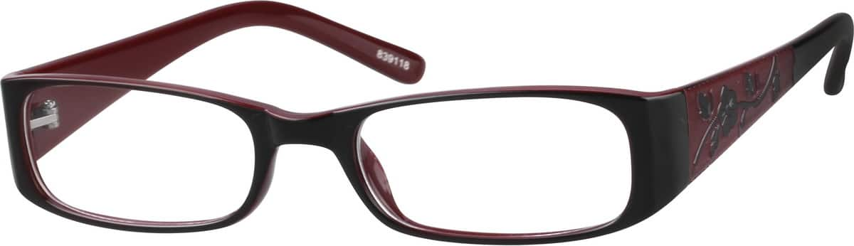 839118-two-tone-plastic-full-rim-frame-with-incised-pattern-on-temples-same-appearance-as-frame-3391