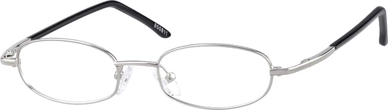 Metal Alloy Oval Eyeglasses