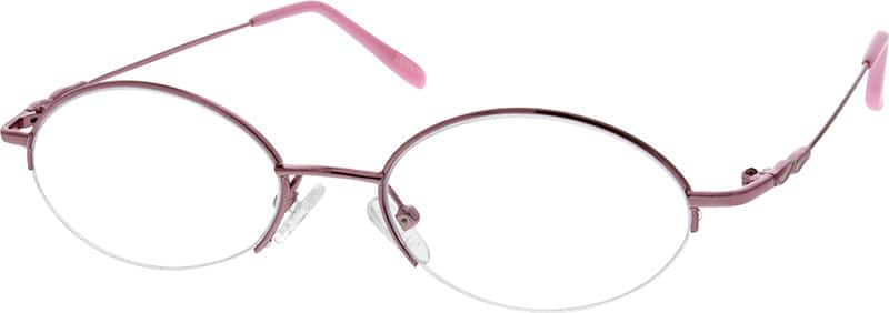 Women Half Rim Stainless Steel Eyeglasses #862017