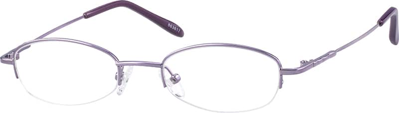 Women Half Rim Stainless Steel Eyeglasses #863617