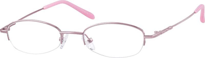 Women Half Rim Stainless Steel Eyeglasses #863619