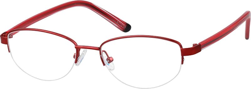 911018-stainless-steel-half-rim-frame-with-acetate-temples