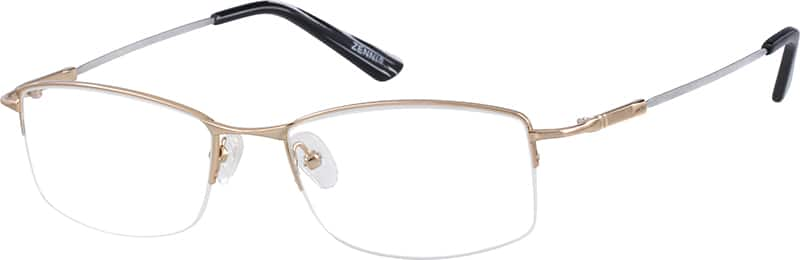 Bendable (Memory) Titanium Half Rim Frame (Same Appearance as Frame #2112)