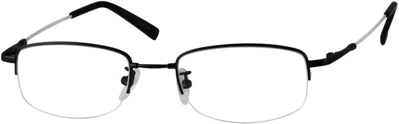MenHalf RimMemory TitaniumEyeglasses #914411