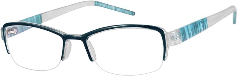 WomenHalf RimAcetate/PlasticEyeglasses #922515