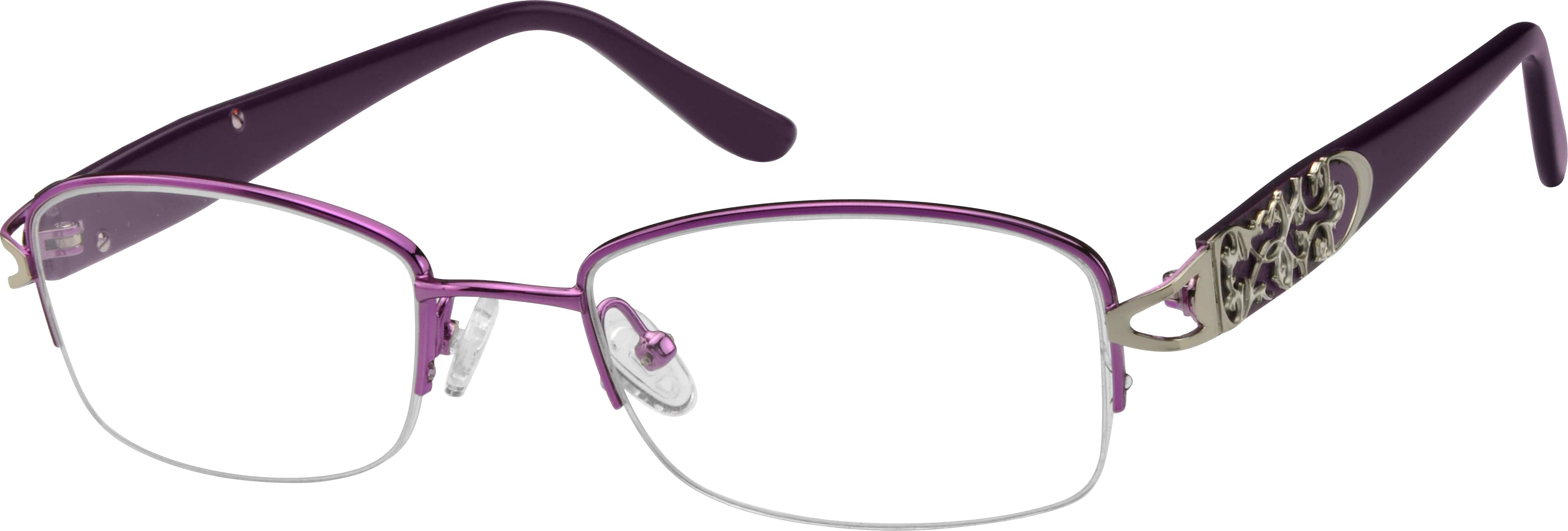 932617-stainless-steel-half-rim-frame-with-acetate-temples