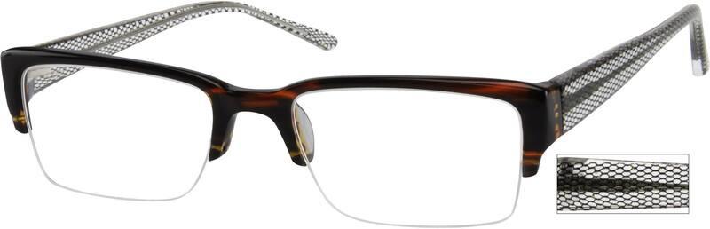MenHalf RimAcetate/PlasticEyeglasses #934321