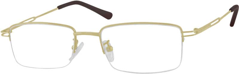Men Half Rim Stainless Steel Eyeglasses #950421