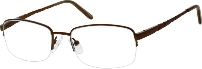 MenHalf RimStainless SteelEyeglasses #952215