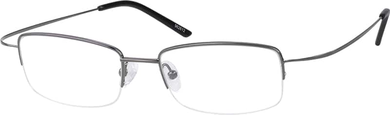 Men Half Rim Stainless Steel Eyeglasses #962612