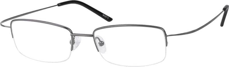 MenHalf RimStainless SteelEyeglasses #962612