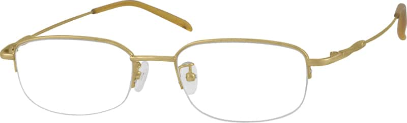 Men Half Rim Stainless Steel Eyeglasses #962821