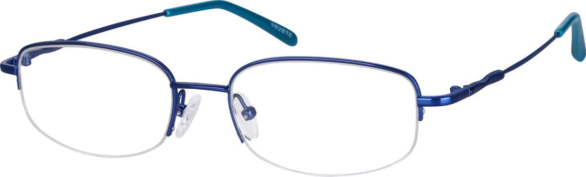 Men Half Rim Stainless Steel Eyeglasses #962811