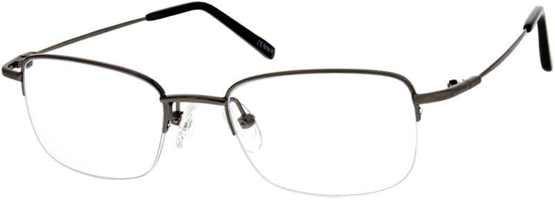 Men Half Rim Stainless Steel Eyeglasses #963821