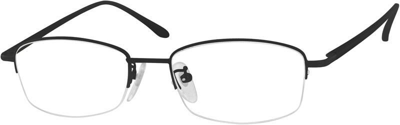 MenHalf RimAluminum AlloyEyeglasses #965412