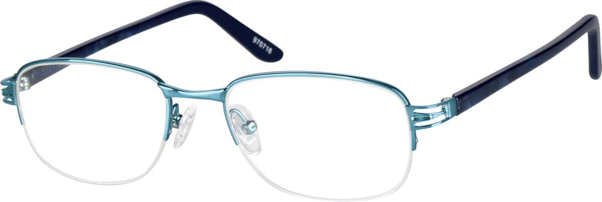 WomenHalf RimMixed MaterialsEyeglasses #970711
