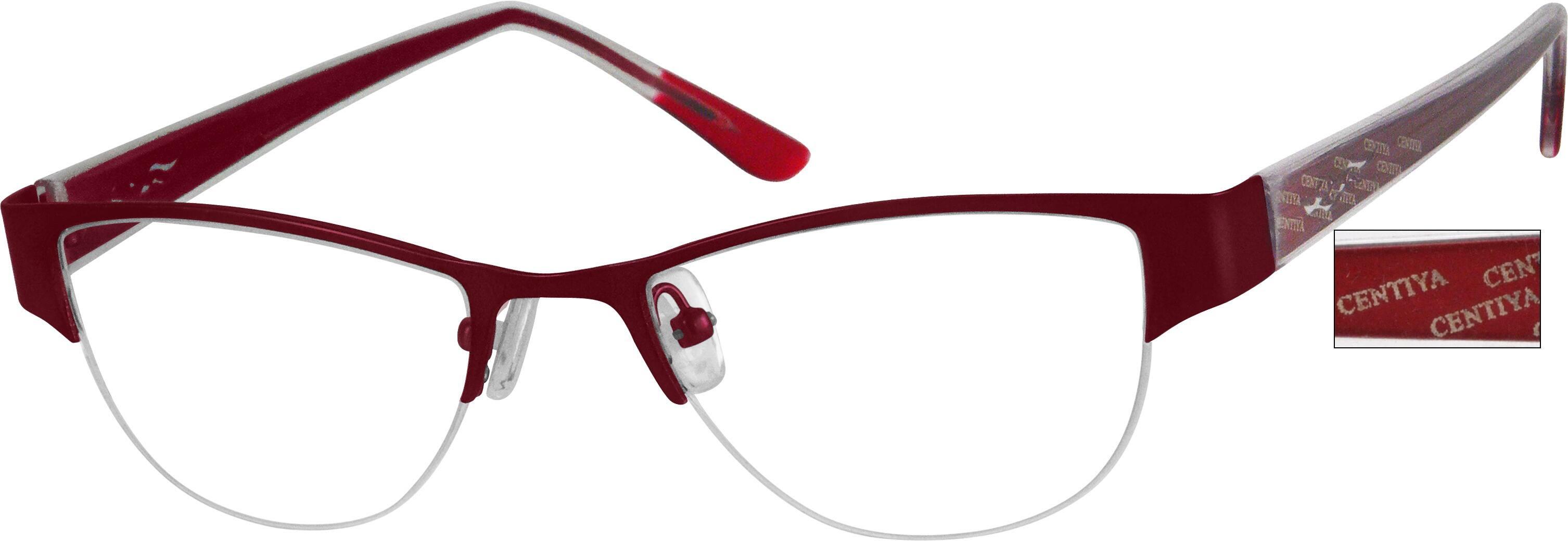 WomenHalf RimMixed MaterialsEyeglasses #990118