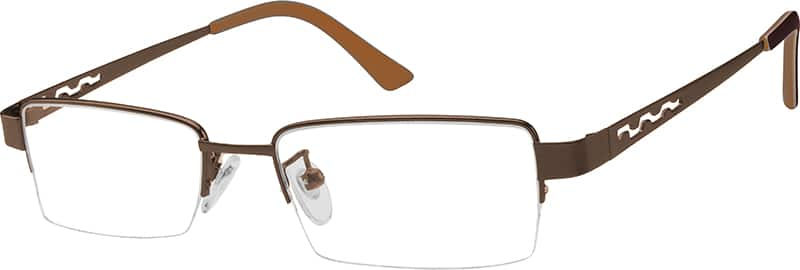 Men Half Rim Stainless Steel Eyeglasses #992521
