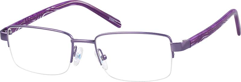 Women Half Rim Mixed Materials Eyeglasses #999611