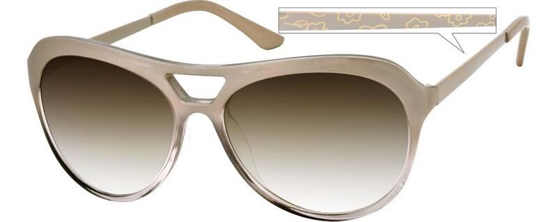 Zenni Optical Glasses Manufactured : Cream Sunglasses #A101507 Zenni Optical Eyeglasses