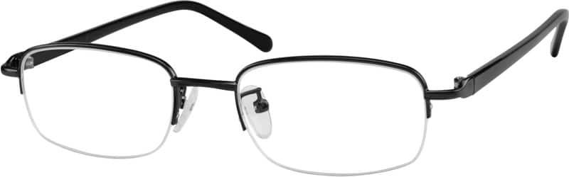 Half Rim Mixed Materials Eyeglasses #A2735621