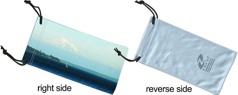Blue Soft Eyeglass Case