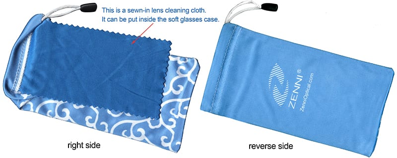 Blue Soft Eyeglass Case