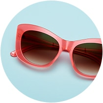 Stunning acetate cat-eye glasses #4438119 with gradient amber tints.