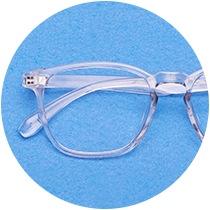 Clear square glasses #2020123.