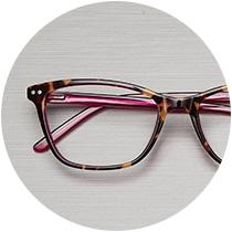 Stylish thin acetate rectangle glasses #4441725 in tortoiseshell.