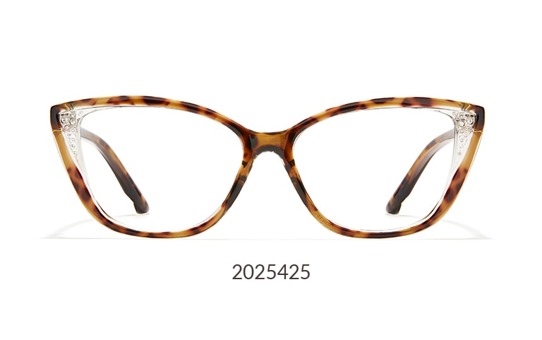 Add a bit of sparkle to your evening or everyday look with these cat-eye glasses 2025425 that feature rhinestone accents on the outer corners.