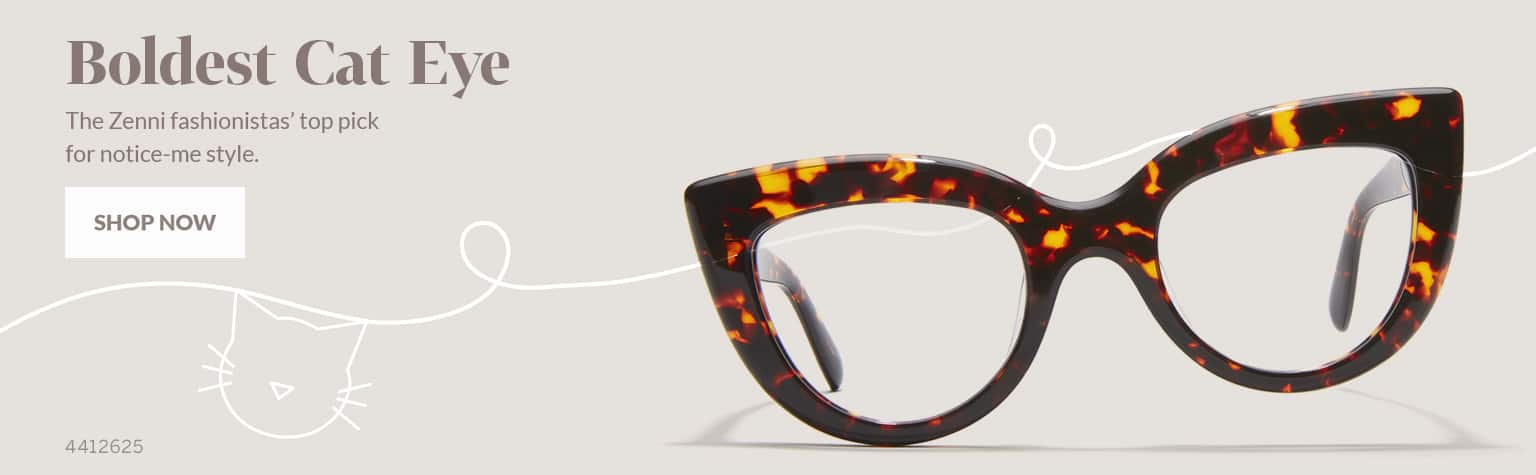 Boldest Cat-Eye – Bold acetate cat-eye glasses #4412625 in dark tortoiseshell.
