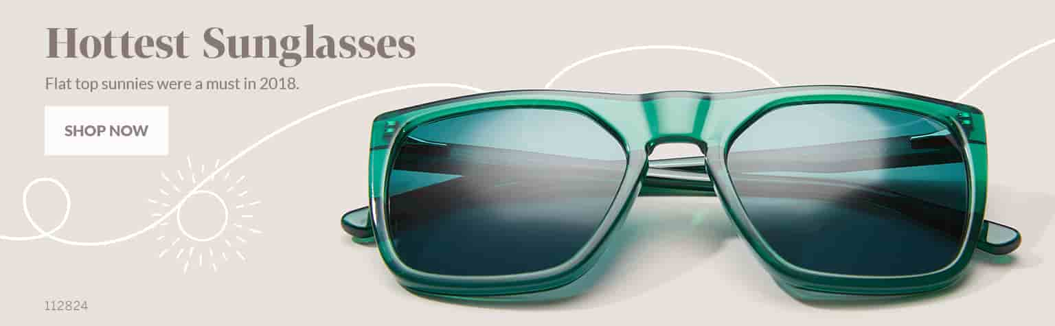 Hottest Sunglasses –Premium square sunglasses #112824 in green feature a modern flat-top design.
