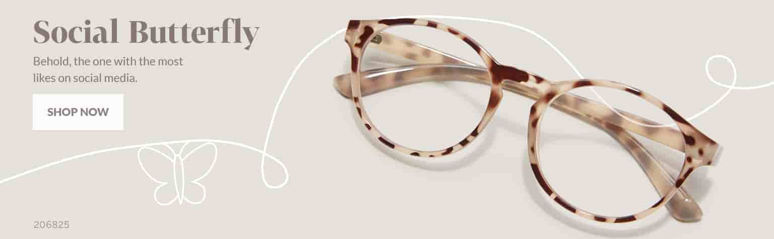 Social Butterfly –Round glasses #206825 in tortoiseshell.