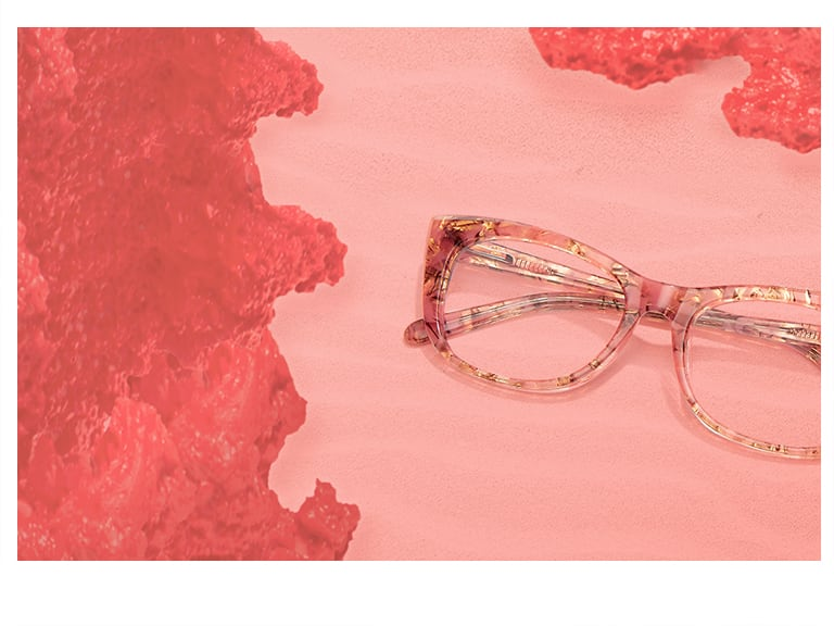 Eyewear with Pantone Color 2019 Coral