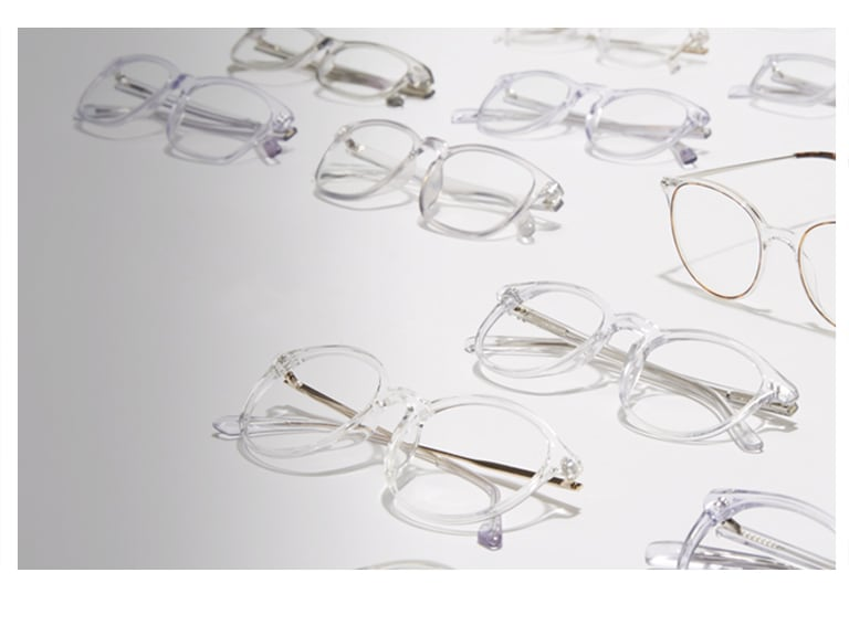 "See why clear glasses are the new ""It"" style."