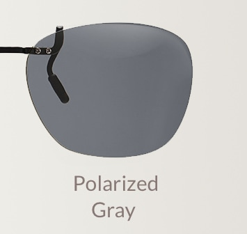 Polarized gray clip-on