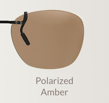 Polarized amber clip-on