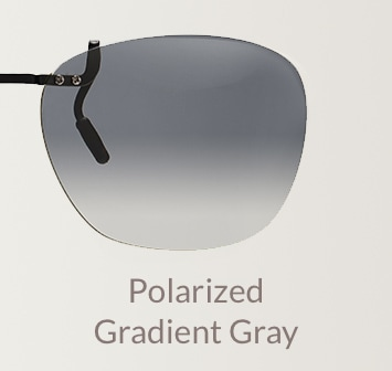 Polarized gradient gray clip-on
