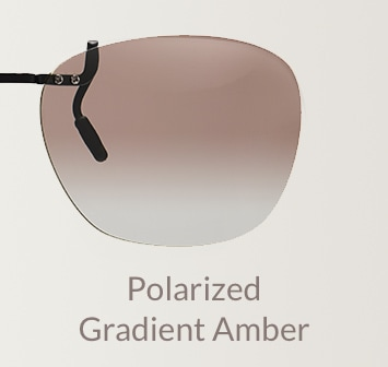 Polarized gradient amber clip-on