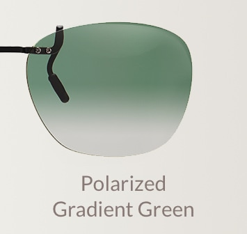 Polarized gradient green clip-on