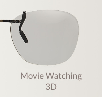 3D movie watching clip-on