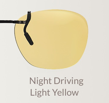 Driving light yellow clip-on