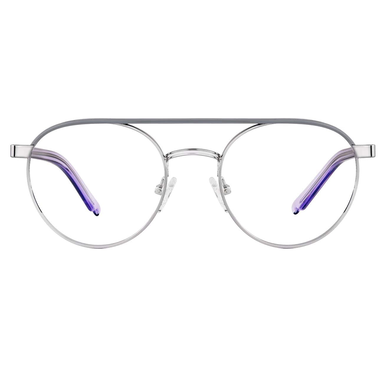 Image of Zenni silver aviator glasses #1913011 I am brave