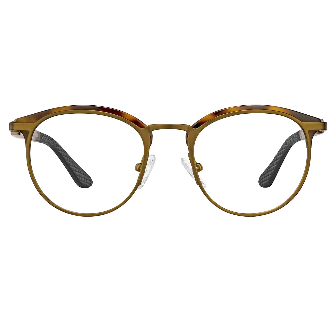 Image of Zenni brown round glasses I AM KIND #1912925.