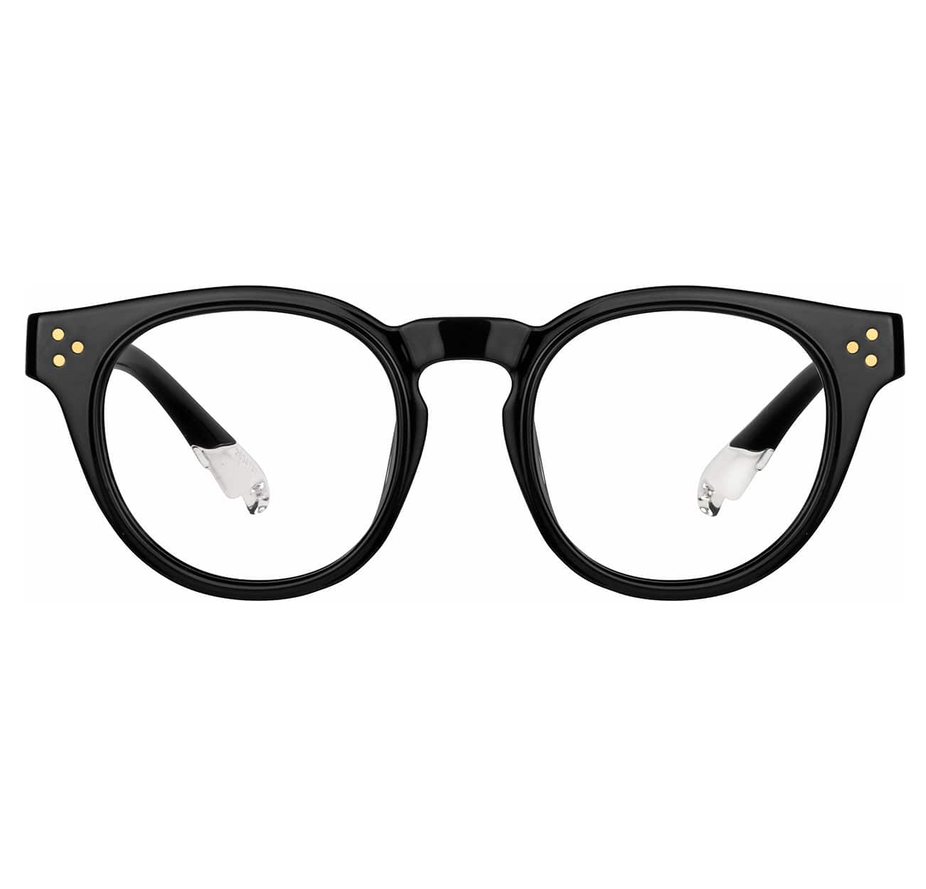 Image of Zenni black  oval glasses I AM POSITIVE #2034121.
